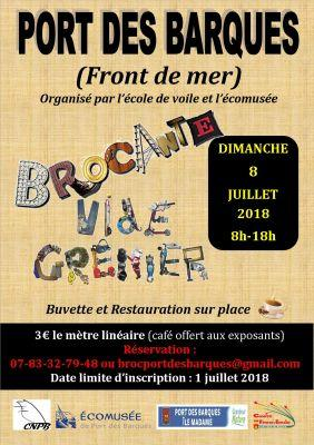 brocante vide grenier port des barques 17730 08 juillet 2018. Black Bedroom Furniture Sets. Home Design Ideas