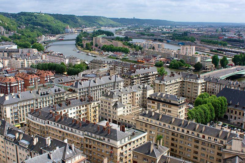Vue panoramique sur la ville de Rouen