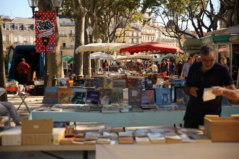 Brocante et marché aux livres à Montpellier